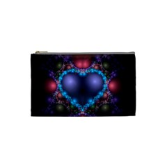 Blue Heart Cosmetic Bag (small)
