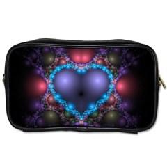 Blue Heart Toiletries Bags