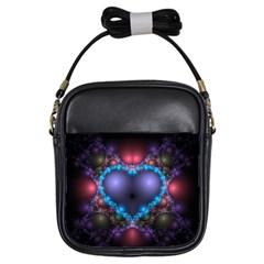 Blue Heart Girls Sling Bags