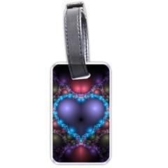 Blue Heart Luggage Tags (one Side)