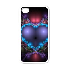 Blue Heart Apple Iphone 4 Case (white)