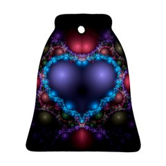Blue Heart Bell Ornament (two Sides)
