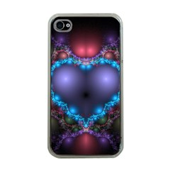 Blue Heart Apple Iphone 4 Case (clear)