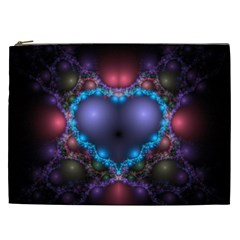 Blue Heart Cosmetic Bag (xxl)