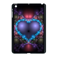 Blue Heart Apple Ipad Mini Case (black)