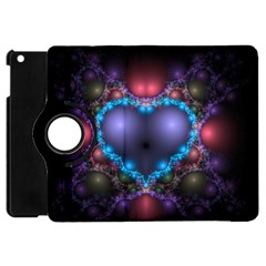Blue Heart Apple Ipad Mini Flip 360 Case