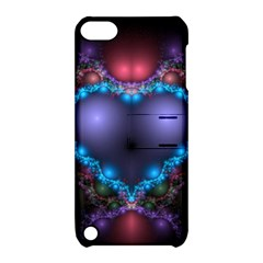 Blue Heart Apple Ipod Touch 5 Hardshell Case With Stand