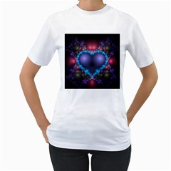 Blue Heart Women s T Shirt (white)