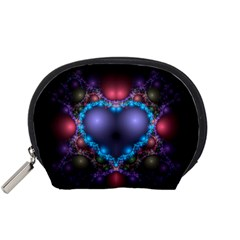 Blue Heart Accessory Pouches (small)