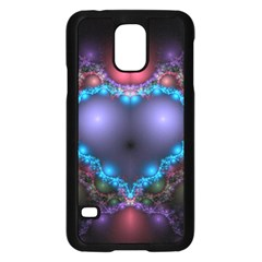 Blue Heart Samsung Galaxy S5 Case (black)
