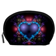 Blue Heart Accessory Pouches (large)