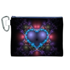 Blue Heart Canvas Cosmetic Bag (xl)