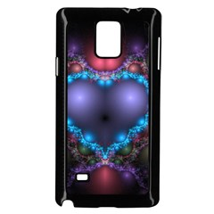 Blue Heart Samsung Galaxy Note 4 Case (black)