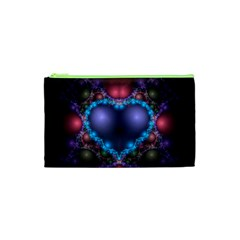 Blue Heart Cosmetic Bag (xs)