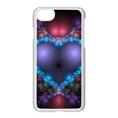 Blue Heart Apple Iphone 7 Seamless Case (white)