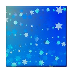 Blue Hot Pattern Blue Star Background Tile Coasters