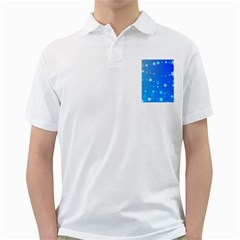 Blue Hot Pattern Blue Star Background Golf Shirts