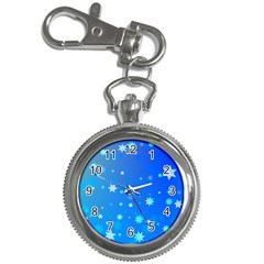 Blue Hot Pattern Blue Star Background Key Chain Watches