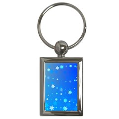 Blue Hot Pattern Blue Star Background Key Chains (rectangle)