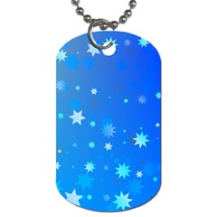 Blue Hot Pattern Blue Star Background Dog Tag (one Side)