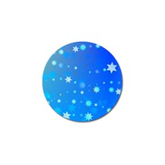Blue Hot Pattern Blue Star Background Golf Ball Marker (10 Pack)