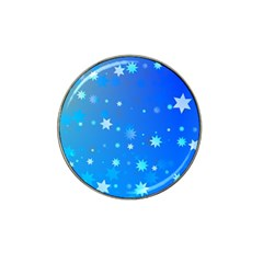 Blue Hot Pattern Blue Star Background Hat Clip Ball Marker (10 Pack)