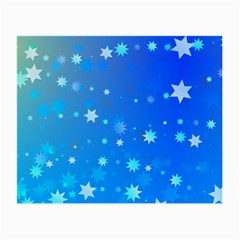 Blue Hot Pattern Blue Star Background Small Glasses Cloth
