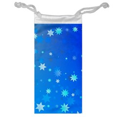 Blue Hot Pattern Blue Star Background Jewelry Bag