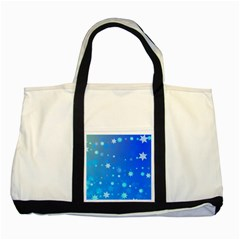 Blue Hot Pattern Blue Star Background Two Tone Tote Bag