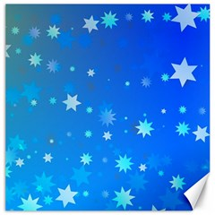 Blue Hot Pattern Blue Star Background Canvas 12  X 12