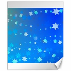 Blue Hot Pattern Blue Star Background Canvas 16  X 20
