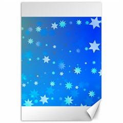 Blue Hot Pattern Blue Star Background Canvas 20  X 30