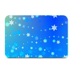 Blue Hot Pattern Blue Star Background Plate Mats