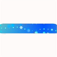 Blue Hot Pattern Blue Star Background Small Bar Mats