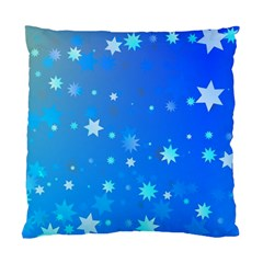 Blue Hot Pattern Blue Star Background Standard Cushion Case (One Side)
