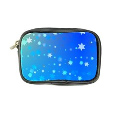 Blue Hot Pattern Blue Star Background Coin Purse