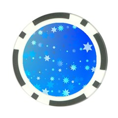 Blue Hot Pattern Blue Star Background Poker Chip Card Guard (10 Pack)