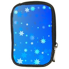 Blue Hot Pattern Blue Star Background Compact Camera Cases