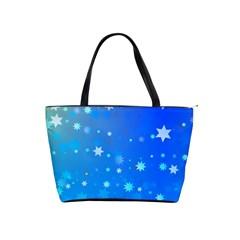 Blue Hot Pattern Blue Star Background Shoulder Handbags