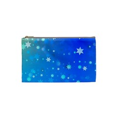 Blue Hot Pattern Blue Star Background Cosmetic Bag (small)