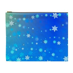 Blue Hot Pattern Blue Star Background Cosmetic Bag (XL)