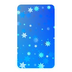 Blue Hot Pattern Blue Star Background Memory Card Reader