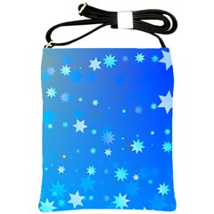 Blue Hot Pattern Blue Star Background Shoulder Sling Bags