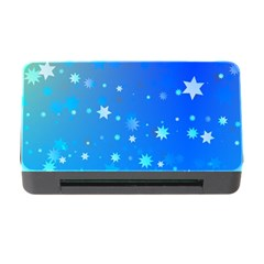 Blue Hot Pattern Blue Star Background Memory Card Reader With Cf