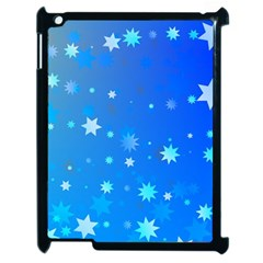 Blue Hot Pattern Blue Star Background Apple Ipad 2 Case (black)