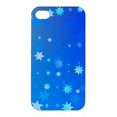 Blue Hot Pattern Blue Star Background Apple Iphone 4/4s Hardshell Case
