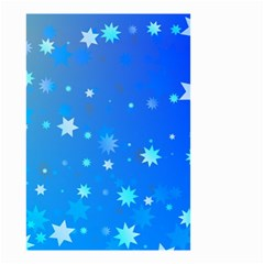 Blue Hot Pattern Blue Star Background Small Garden Flag (two Sides)