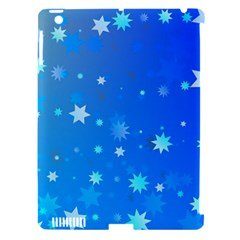 Blue Hot Pattern Blue Star Background Apple Ipad 3/4 Hardshell Case (compatible With Smart Cover)
