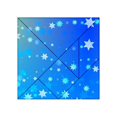 Blue Hot Pattern Blue Star Background Acrylic Tangram Puzzle (4  X 4 )