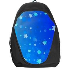 Blue Hot Pattern Blue Star Background Backpack Bag